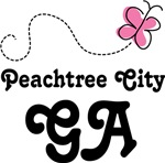 Peachtree City Georgia Butterfly T-shirts and Hood