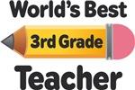 3rd Grade Teacher Pencil T-shirts and Mugs