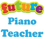 Future Piano Teacher Kids Music T-shirts