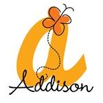 Custom Orange Butterfly Monogram T-shirts & Gifts