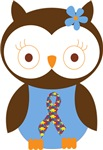 Autism or Aspergers Owl Gifts and Shirts