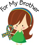 Autism For My Brother Girls and Womens Tees