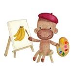 A Little Artist Socky The Sock Monkey