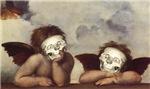 Raphael's Sistine Madonna Cherubs for Halloween!