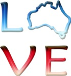 LOVE Australia t-shirts & gifts, Version 2!
