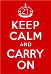 21st Birthday Gifts, Keep Calm & Carry On!