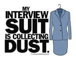 Interview suit collecting dust - women