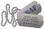 Air Force Wife Dog Tags