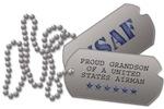 Air Force Grandson Dog Tags