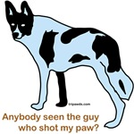 Anybody seen the guy who shot my paw Tripawds t-shirt design