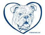Bully Heart Blue