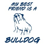 Best Friend Bulldog Blue
