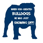 God Created Bulldogs Blue