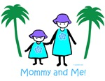 Mommy & 1girl -blue