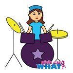 Drummer Girl Purple and Blue