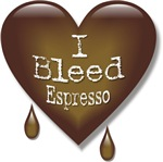 I Bleed Espresso Heart T-shirts & Gifts