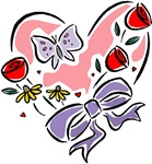 Valentine Heart with Butterfly T-shirts & Gifts