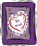 Be Mine Purple Heart T-shirts & Gifts