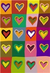Pop Art Multi Colored Hearts T-shirts & Gifts