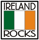 Ireland Rocks with Flag