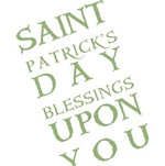 St. Patrick's Day Blessing T-shirts and Gifts