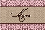 Pink Brown Mom Flowers Mother's T-Shirts & Gifts