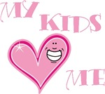 My Kids Love Me Pink Heart Mom T-shirts & Gifts