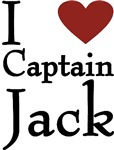 I Love (heart) Captain Jack T-shirts & Gifts