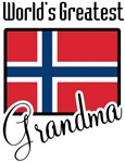 World's Greaest Norwegian Grandma T-shirts Gifts