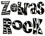 Zebras Rock Zebra Zoo Animal T-shirts Gifts