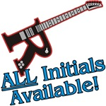 Custom Initial Guitar Personalized T-shirts Gifts