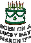 Born on a Lucky Day March 17th T-shirts Gifts