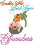 Smokin Hot Beach Lovin Grandma T-shirts Gifts