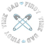 First Time Dad Boy Blue T-shirts Gifts