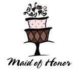Maid of Honor Pink Cake T-shirts Gifts