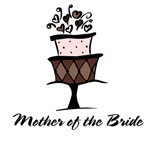 Mother of the Bride Pink Cake T-shirts Gifts