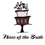 Niece of the Bride Pink Cake T-shirts Gifts