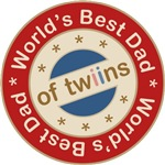 World's Best Dad of Twin Girl Boy T-shirts Gifts
