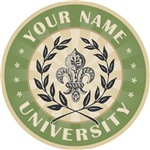 Round Fleur de Lis University Custom Name T-shirts