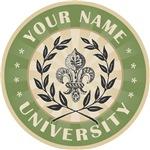 Round Fleur de Lis University Custom Name T-shirts