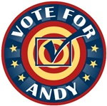 Vote for Andy Personalized T-shirts Gifts