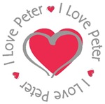 I Love Heart Peter Personalized T-shirts Gifts