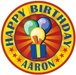 Happy Birthday Personalized Aaron T-shirts Gifts