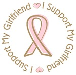 Breast Cancer Support Girlfriend T-shirts Gifts