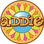 Addie Bright Flower Girl's Name Tees Gifts