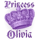 Princess Olivia Vintage Name Tees Gifts