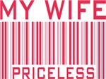 My Wife Priceless Valentine Barcode Tees Gifts