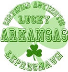 Authentic Lucky Arkansas Leprechaun Tees Gifts