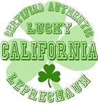 Authentic Lucky California Leprechaun Tees Gifts