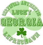 Authentic Lucky Georgia Leprechaun Tees Gifts